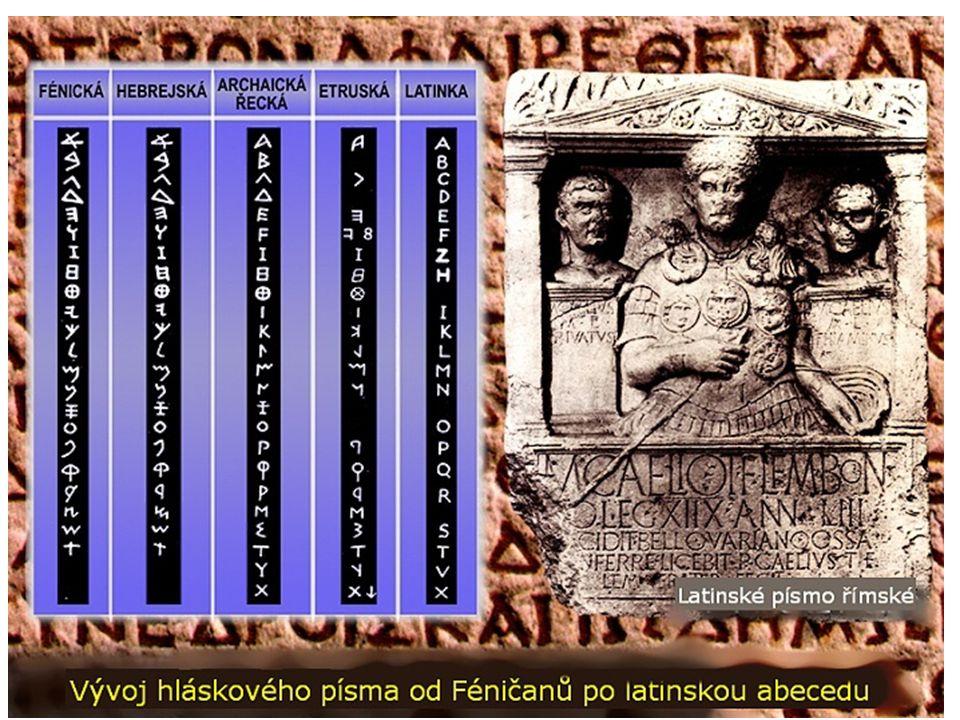 Etruskové Písmo - jazyk