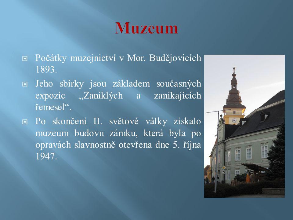  Počátky muzejnictví v Mor. Budějovicích 1893.
