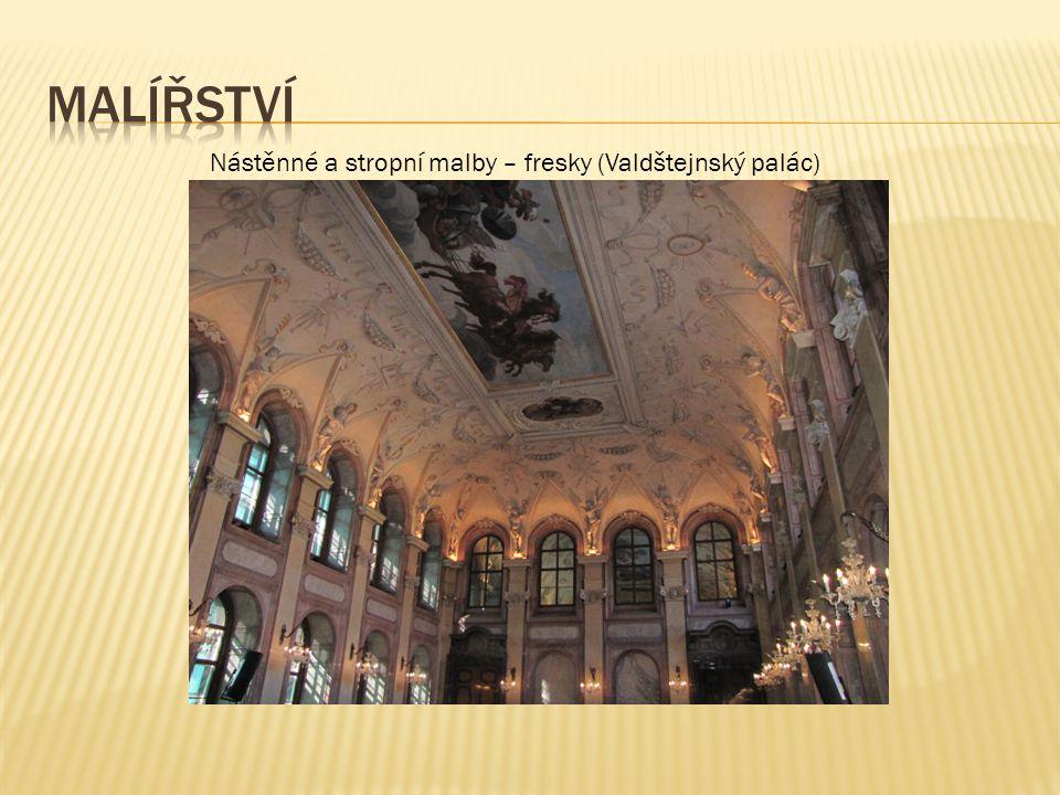 Nástěnné a stropní malby – fresky (Valdštejnský palác)