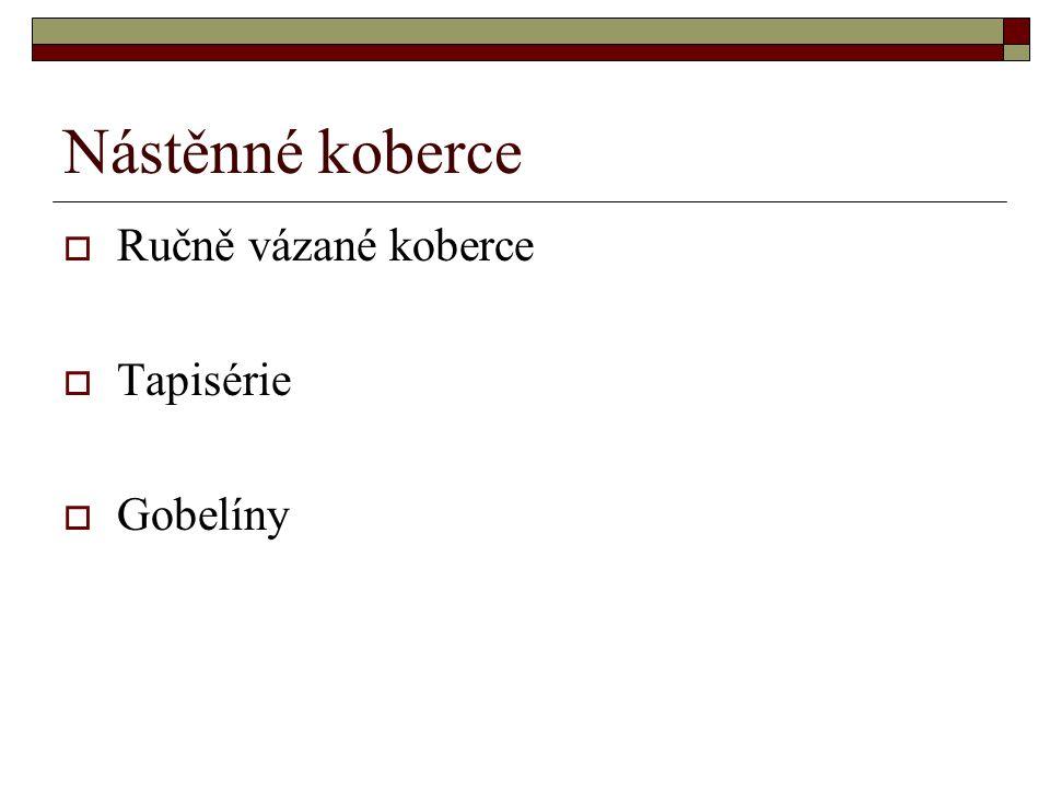 Základní uzly - schematicky  SMYRENSKÝ (turecký)  PERSKÝ
