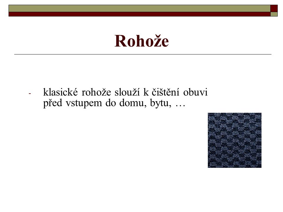 Kobercové čtverce vrstvení materiálů v kobercových čtvercích 1 - všívaný koberec, 2 - primární podkladová textilie, 3 - speciální polymerové vrstvy, 4
