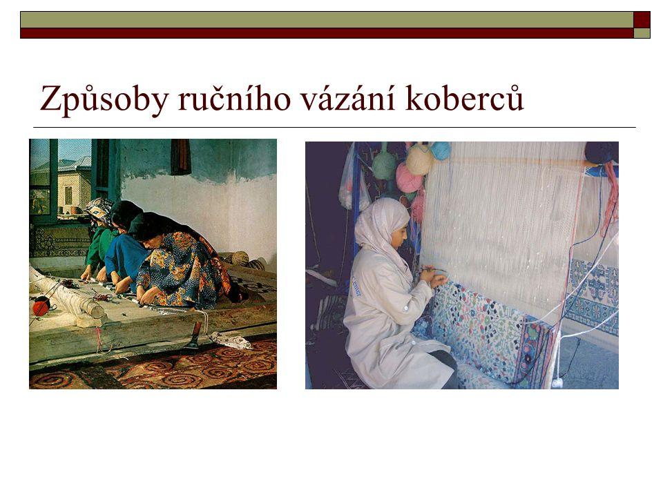 Rozdělení podle technologie výroby KOBERCE Ručně vázanéTkané Netkané podlahové krytiny