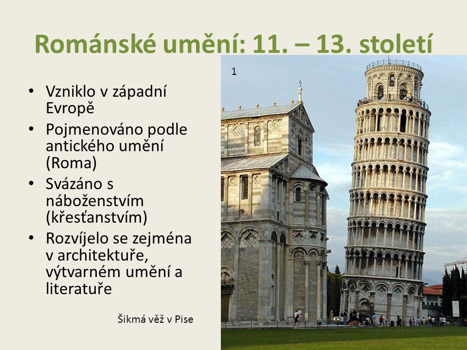 Románské umění: 11.– 13.