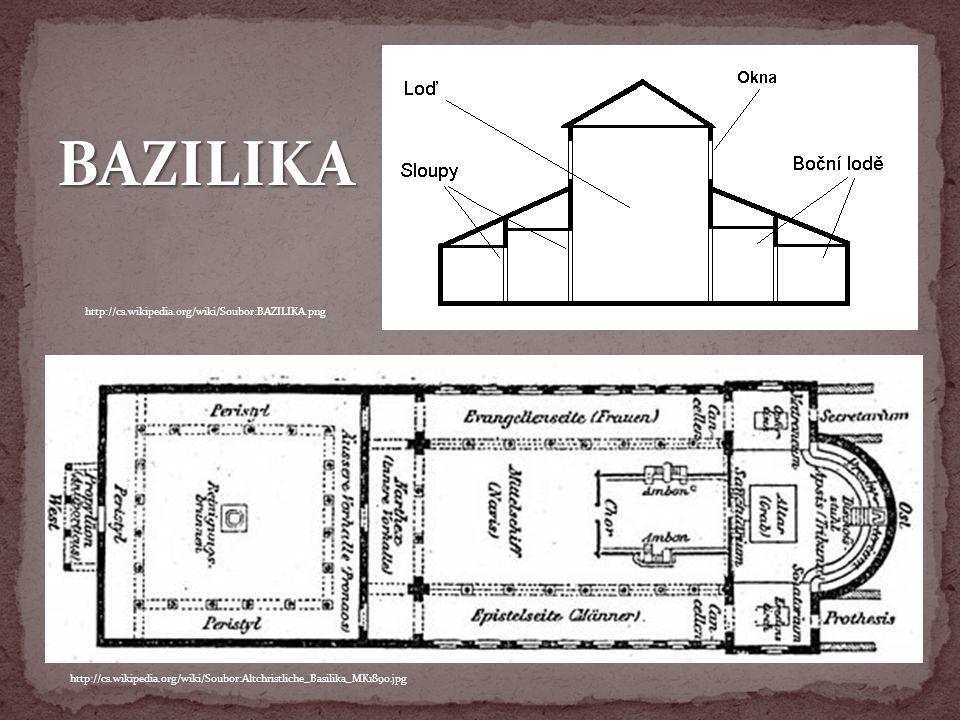 http://cs.wikipedia.org/wiki/Soubor:Altchristliche_Basilika_MK1890.jpg http://cs.wikipedia.org/wiki/Soubor:BAZILIKA.png BAZILIKA