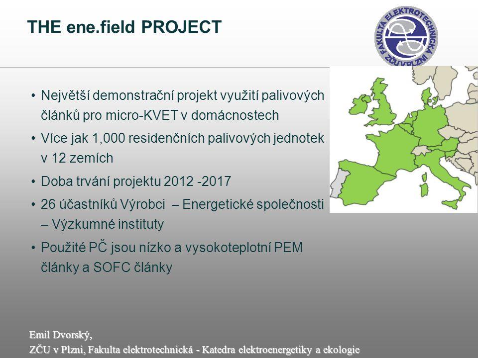 Emil Dvorský, ZČU v Plzni, Fakulta elektrotechnická - Katedra elektroenergetiky a ekologie THE ene.field PROJECT Největší demonstrační projekt využití