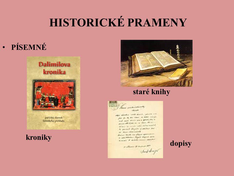 HISTORICKÉ PRAMENY PÍSEMNÉ kroniky staré knihy dopisy