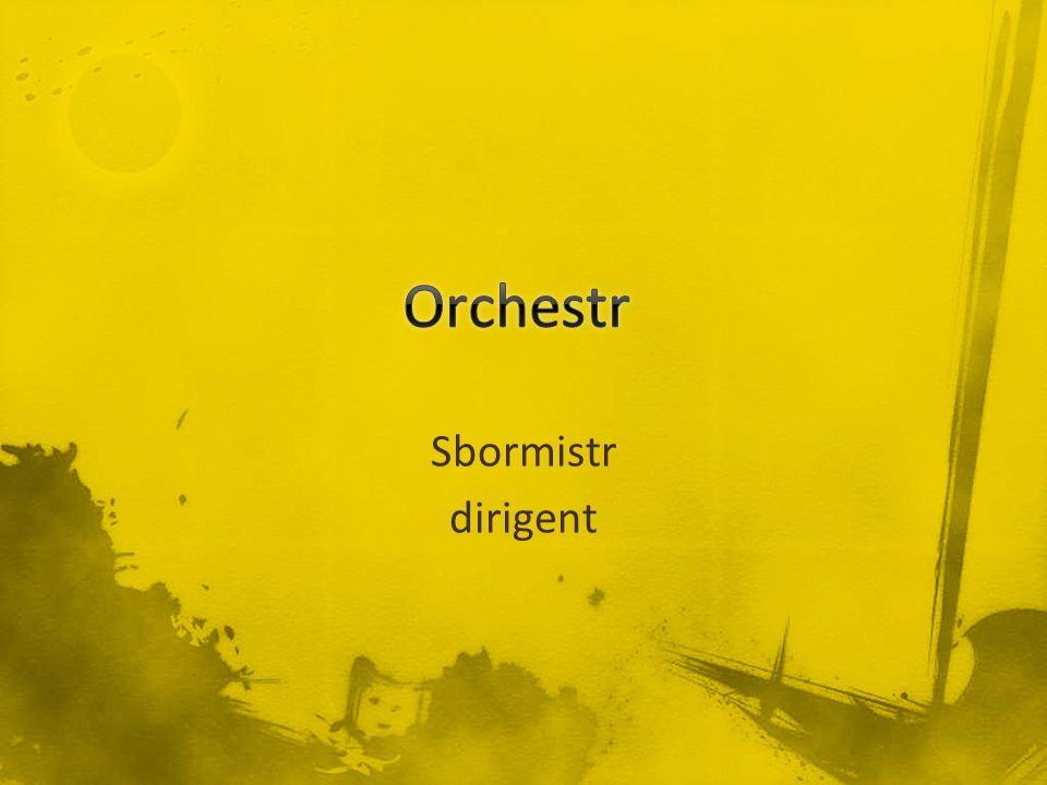 Sbormistr dirigent