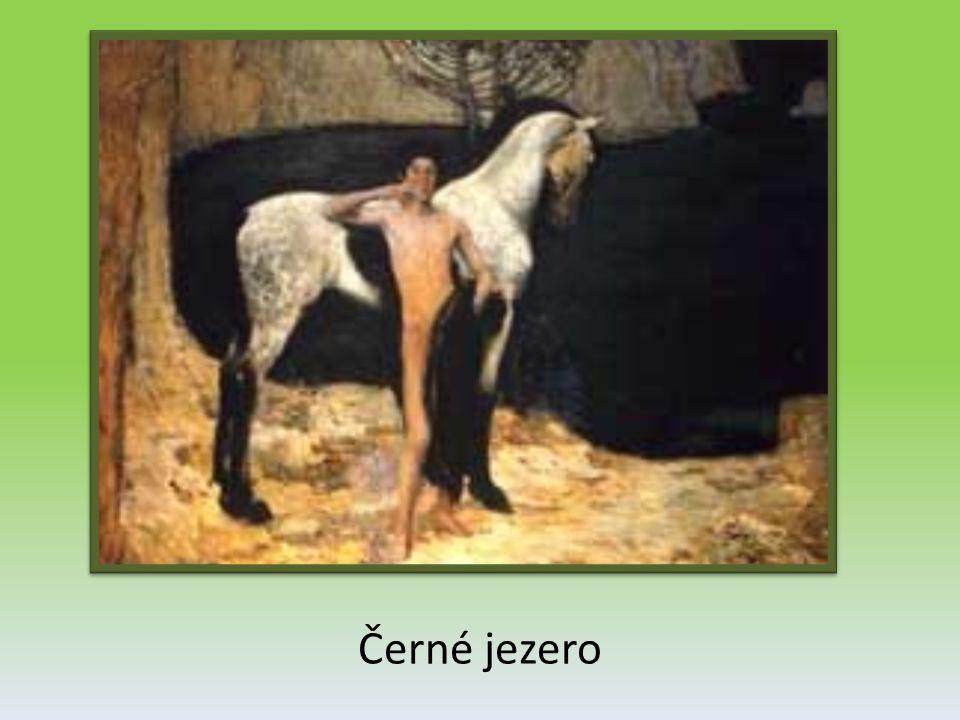 Kompozice s bílým koněm