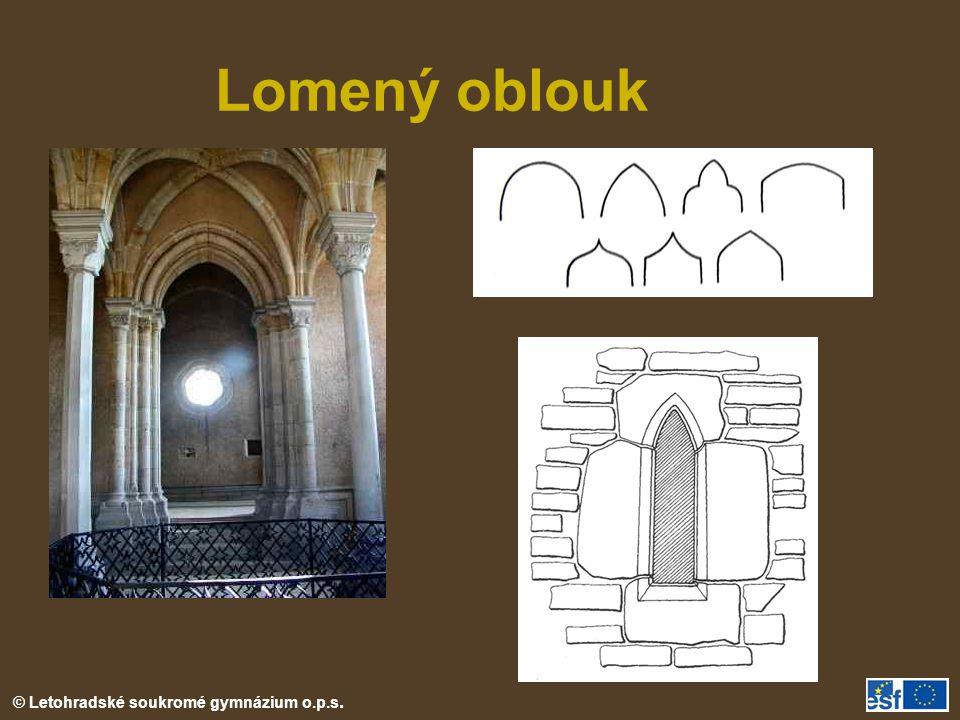 © Letohradské soukromé gymnázium o.p.s. Lomený oblouk