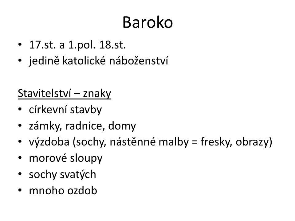 Baroko 17.st.a 1.pol. 18.st.