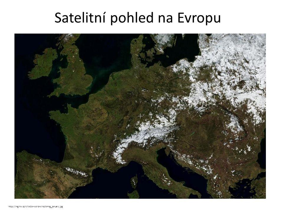 Satelitní pohled na Evropu http://img.hw.cz/n/NASA-world-wind/bmng_january.jpg