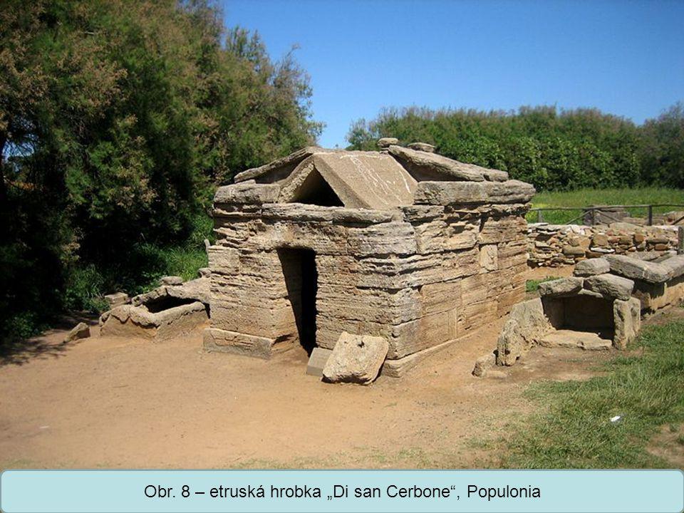 """Střední škola Oselce Obr. 8 – etruská hrobka """"Di san Cerbone , Populonia"""