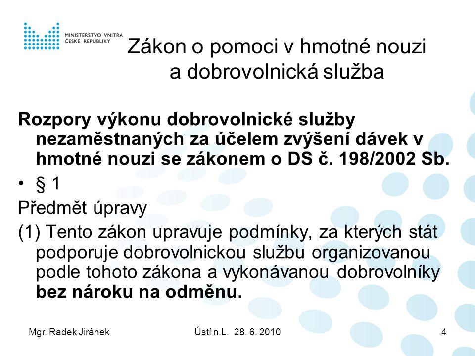 Mgr. Radek JiránekÚstí n.L. 28. 6.