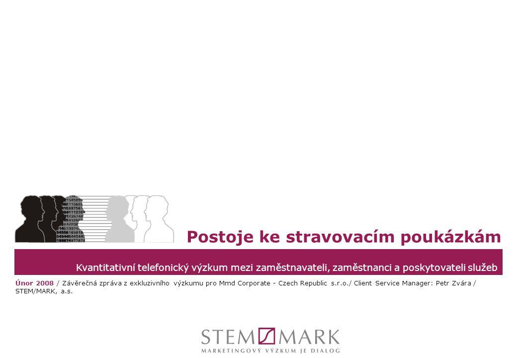 STEM/MARK, a.s.Postoje ke stravovacím poukázkám, únor 2008strana 12 ZAMĚSTNANCI