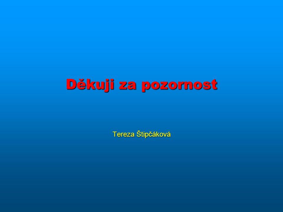 Děkuji za pozornost Tereza Štipčáková