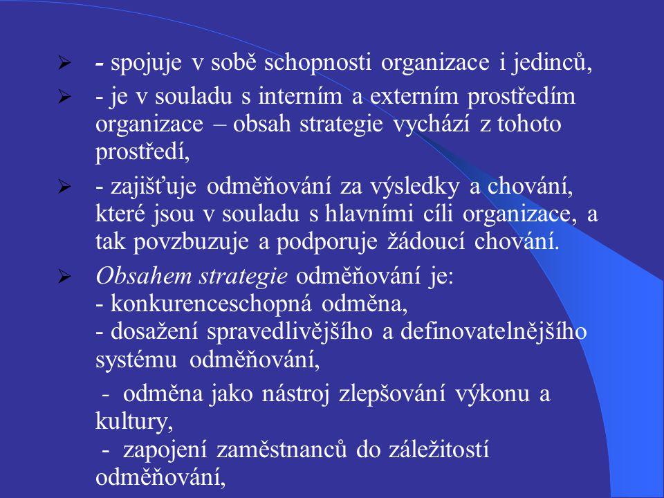 - rozvíjení týmové práce, -podpora víceoborové kvalifikace (rozšiřování kvalifikační základny zaměstnanců).