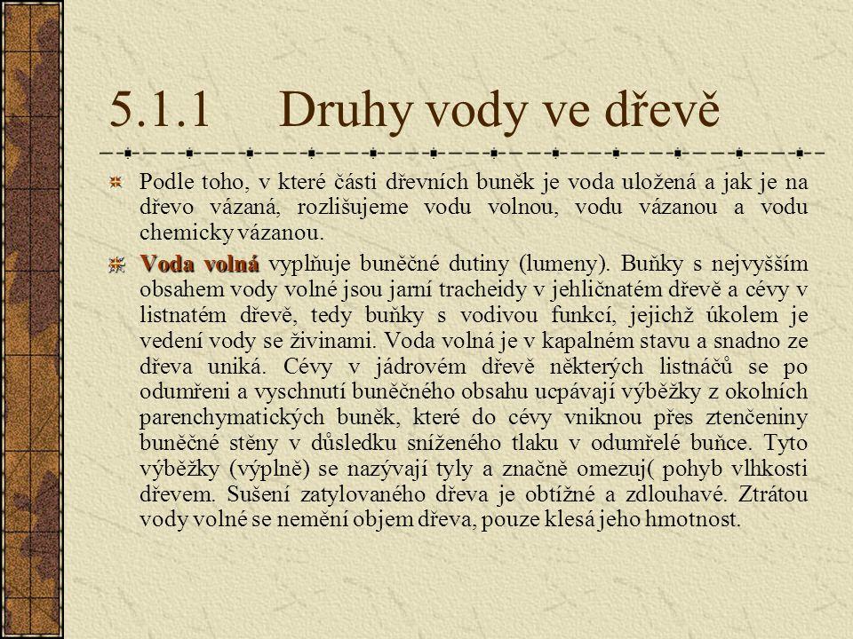 5.1.8.5 Výsušné trhliny Trhliny jsou nejzávažnější vadou při sušení, protože jsou trvalým poškozením dřeva, které již nelze odstranit.