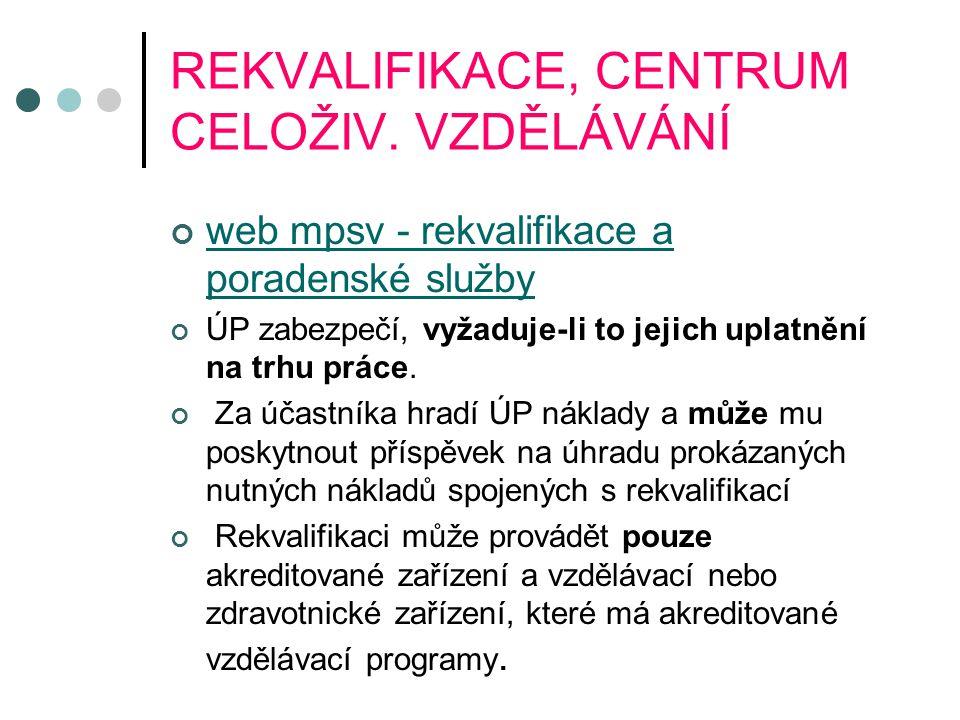 REKVALIFIKACE, CENTRUM CELOŽIV.