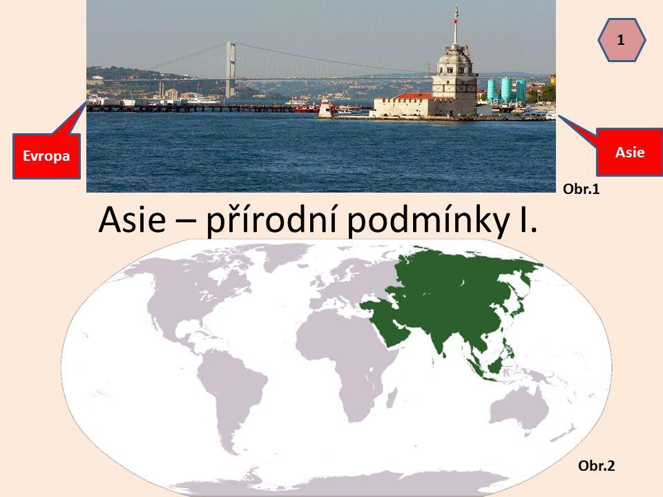 Asie – přírodní podmínky I. Evropa Asie Obr.1 Obr.2 1