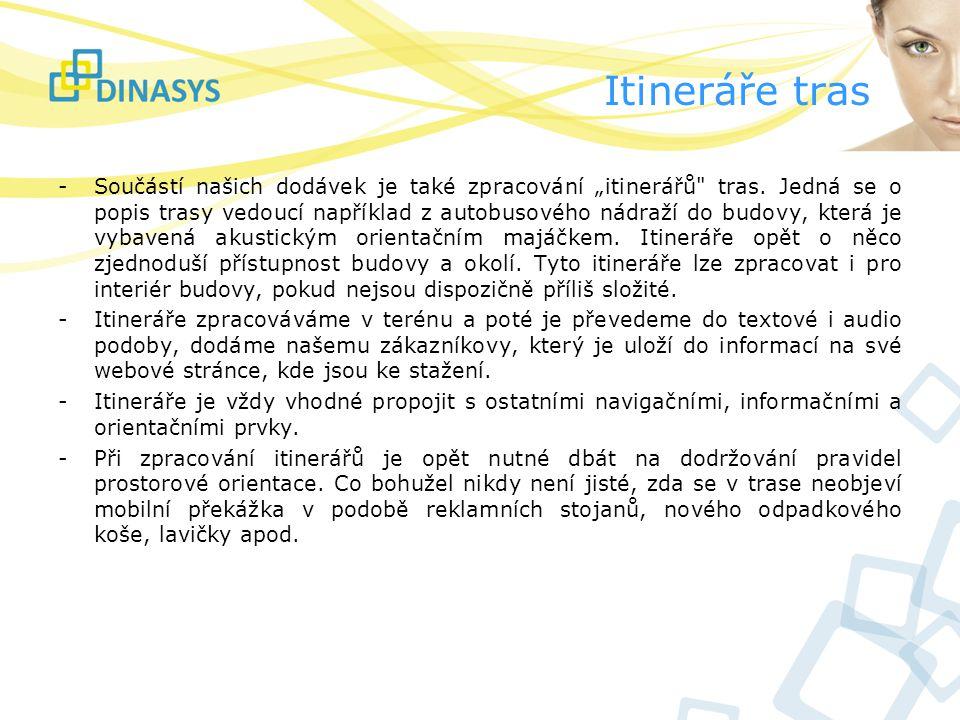 """Itineráře tras - Součástí našich dodávek je také zpracování """"itinerářů"""