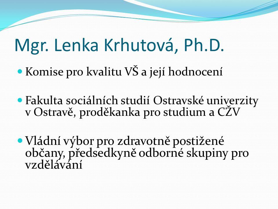 Mgr. Lenka Krhutová, Ph.D.