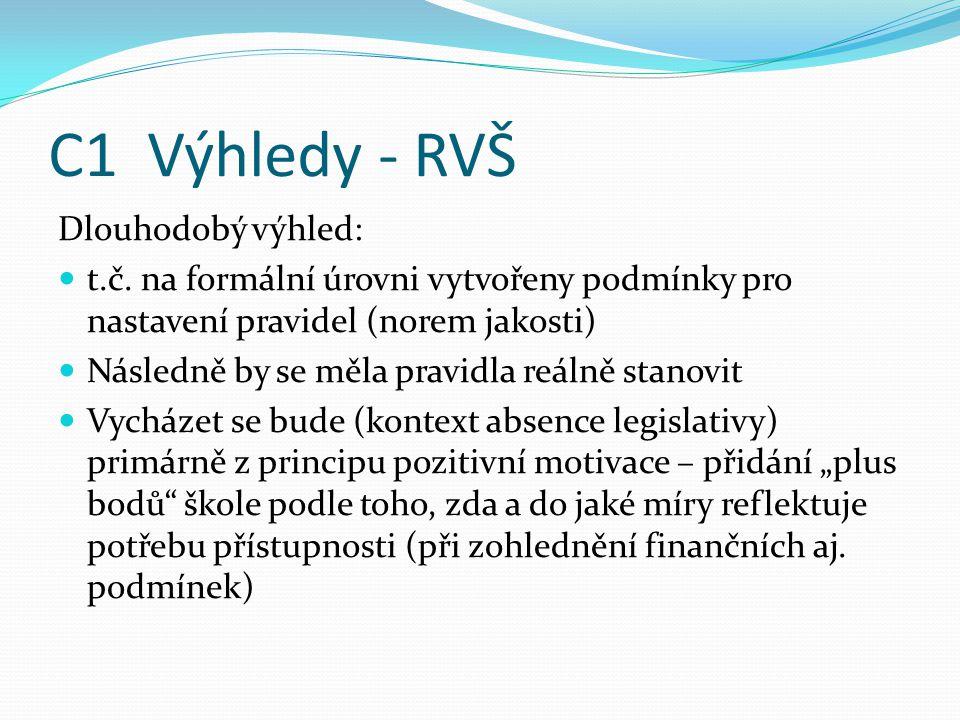 C1 Výhledy - RVŠ Dlouhodobý výhled: t.č.