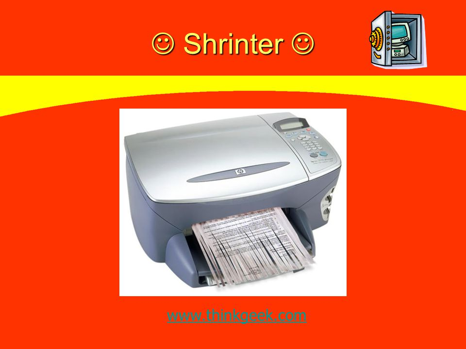 Shrinter Shrinter www.thinkgeek.com
