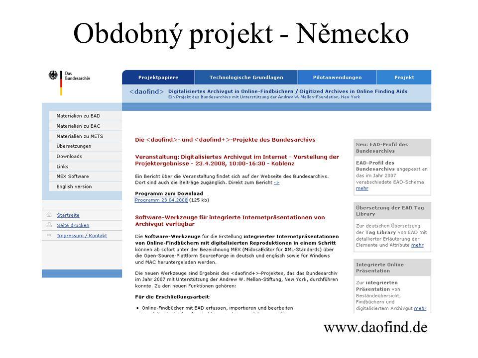 www.daofind.de Obdobný projekt - Německo