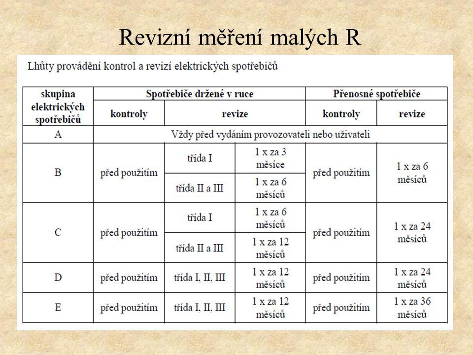 Revizní měření malých R