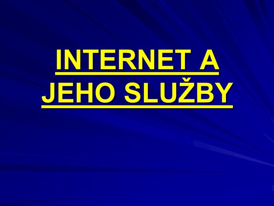 OBSAH 1.Úvodní snímek 2. Obsah 3. Co je to internet, historie v datech 4.
