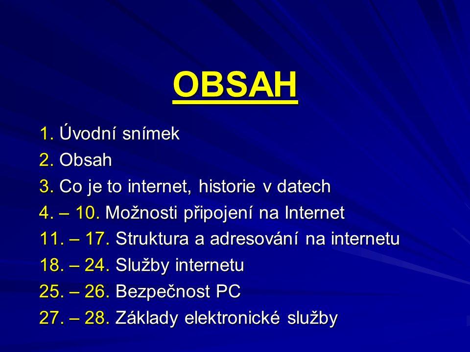 JMENNÉ ADRESY zavedení služby DNS (Domain Name Service), která umožňuje přiřadit každé číselné adrese jmenný pseudonym ve tvaru několika slov oddělenými tečkami příklad: www.seznam.cz