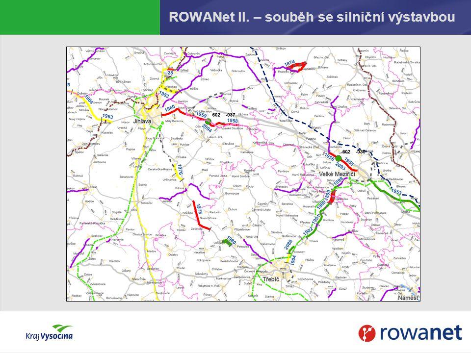ROWANet II. – souběh se silniční výstavbou