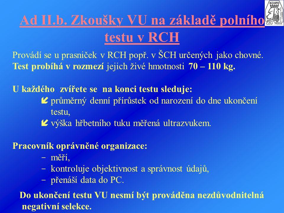 Sleduje se:  datum zahájení testu,  individuální hmotnost selat,  individuální hmotnosti za účelem zjištění průměrného denního přírůstku od narozen