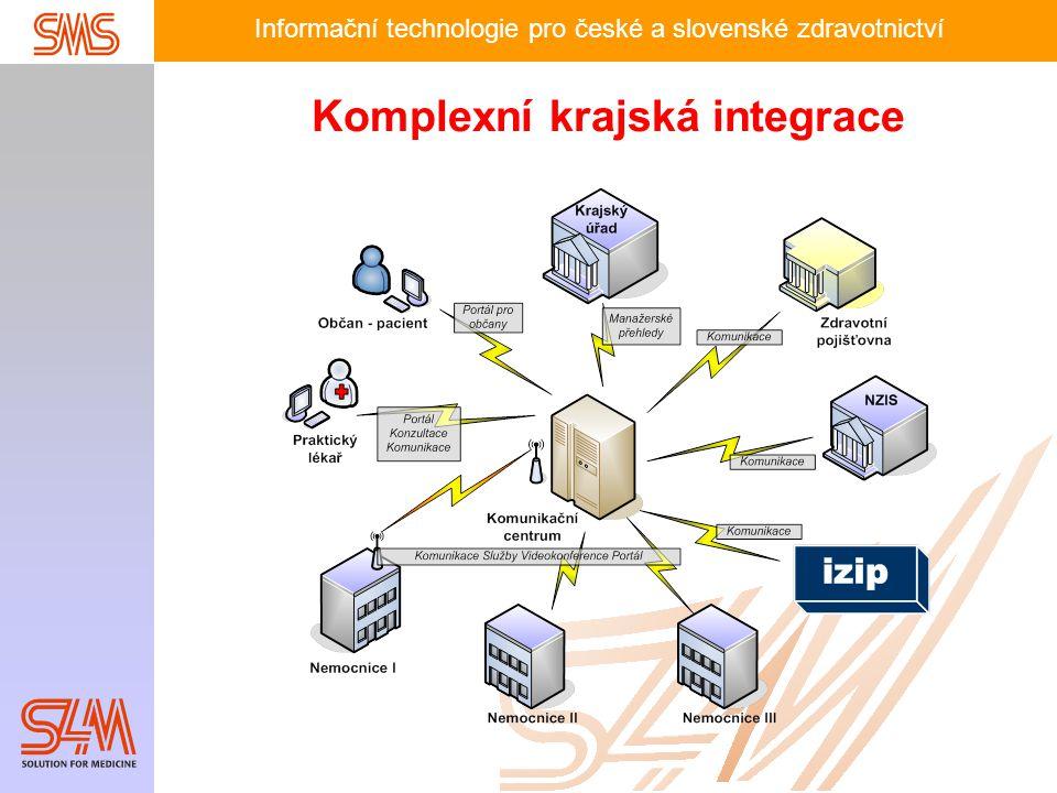 Informační technologie pro české a slovenské zdravotnictví Komplexní krajská integrace
