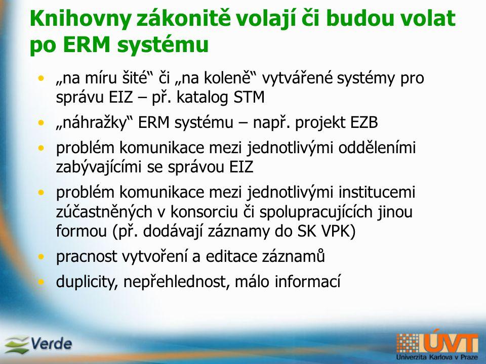 Základní moduly Verde Verde Tasks - úkoly pro zaměstnance (př.