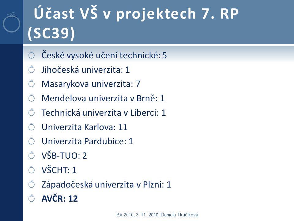 Účast VŠ v projektech 7.