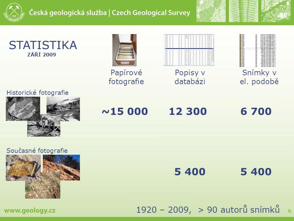 6 Popisy v databázi Papírové fotografie Snímky v el.