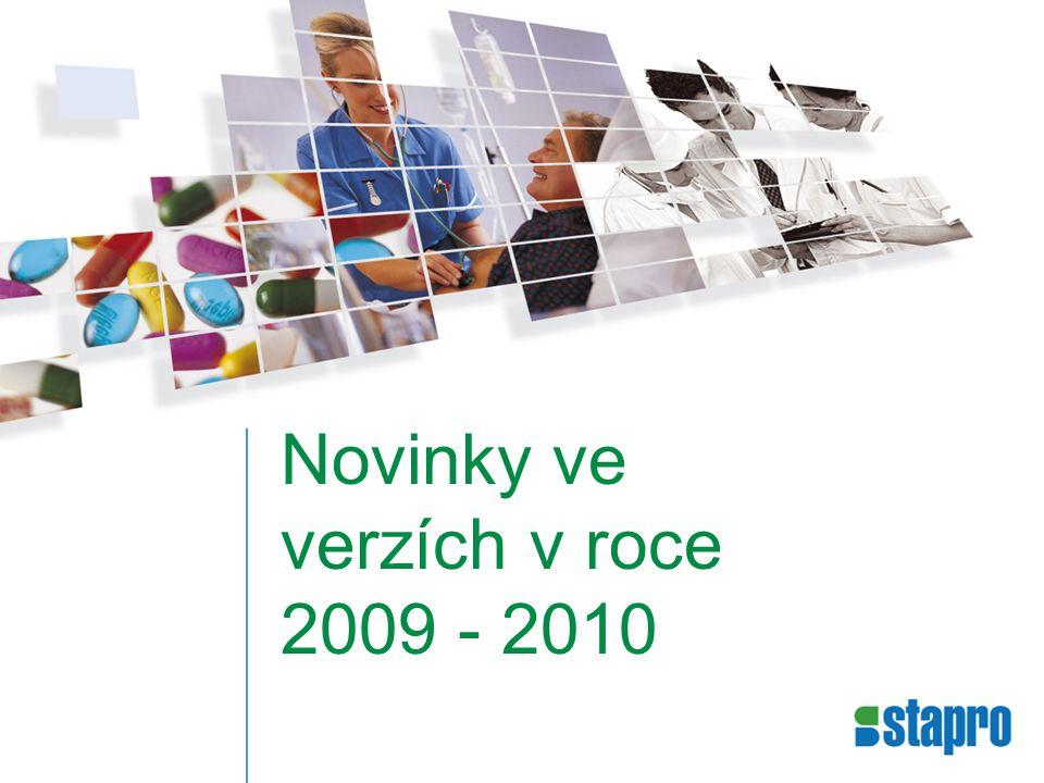 Novinky ve verzích v roce 2009 - 2010