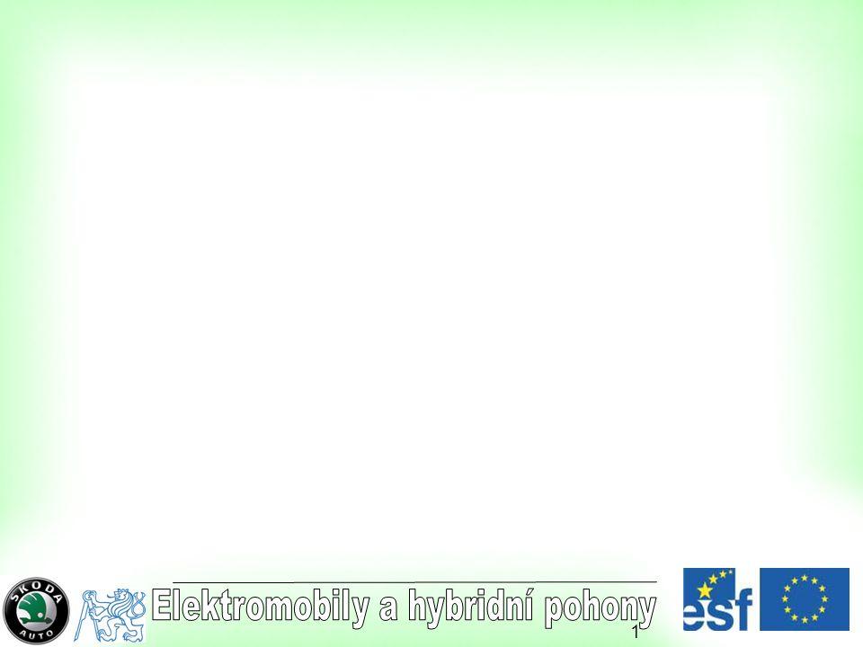 2 VÝZKUMNÉ CENTRUM JOSEFA BOŽKA Katedra elektrických pohonů a trakce K 314 - ČVUT Praha ELEKTROMOBILY A HYBRIDNÍ ELEKTROMOBILY Díl II Prof.