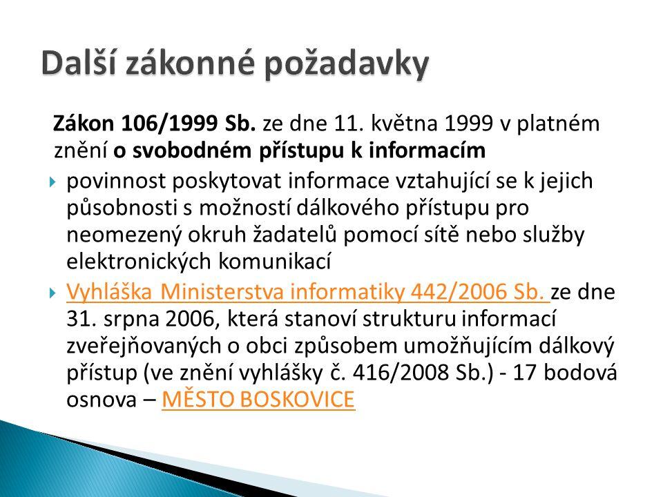 Zákon 106/1999 Sb.ze dne 11.