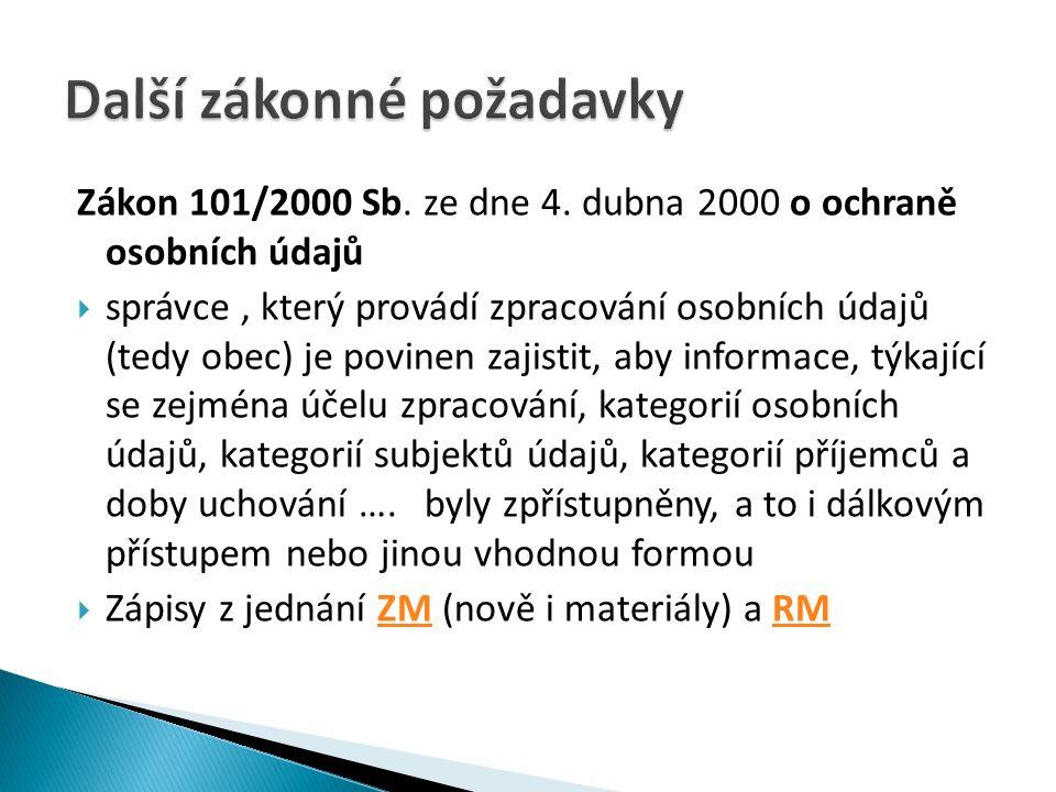 Zákon 101/2000 Sb.ze dne 4.