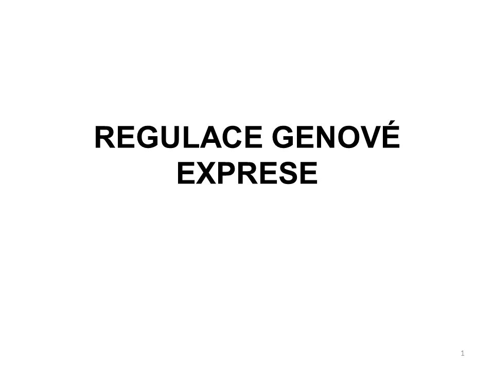 REGULACE GENOVÉ EXPRESE 1