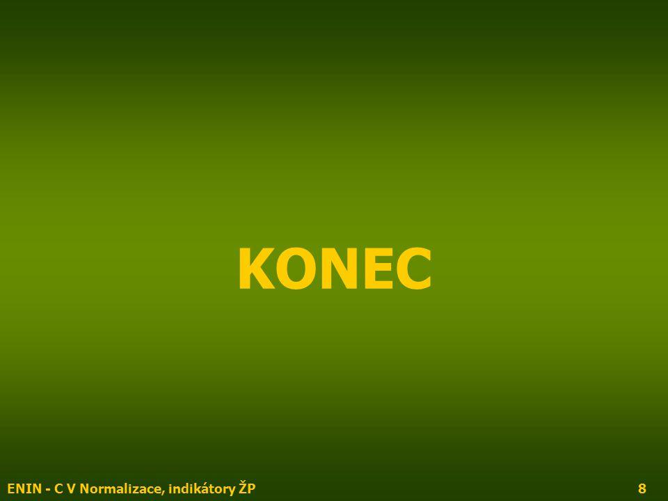 ENIN - C V Normalizace, indikátory ŽP8 KONEC
