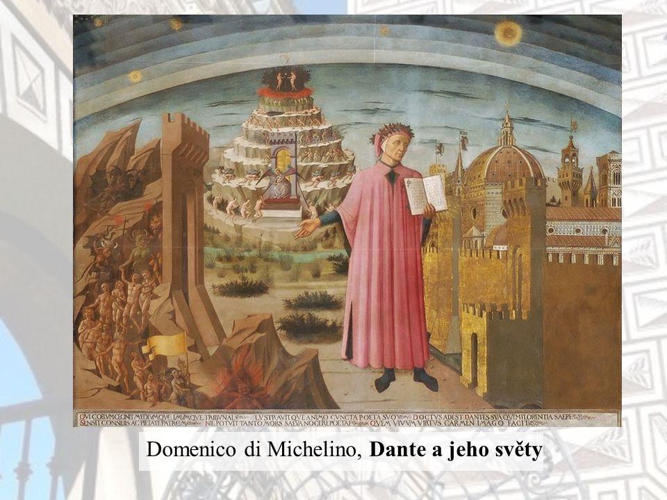 Domenico di Michelino, Dante a jeho světy