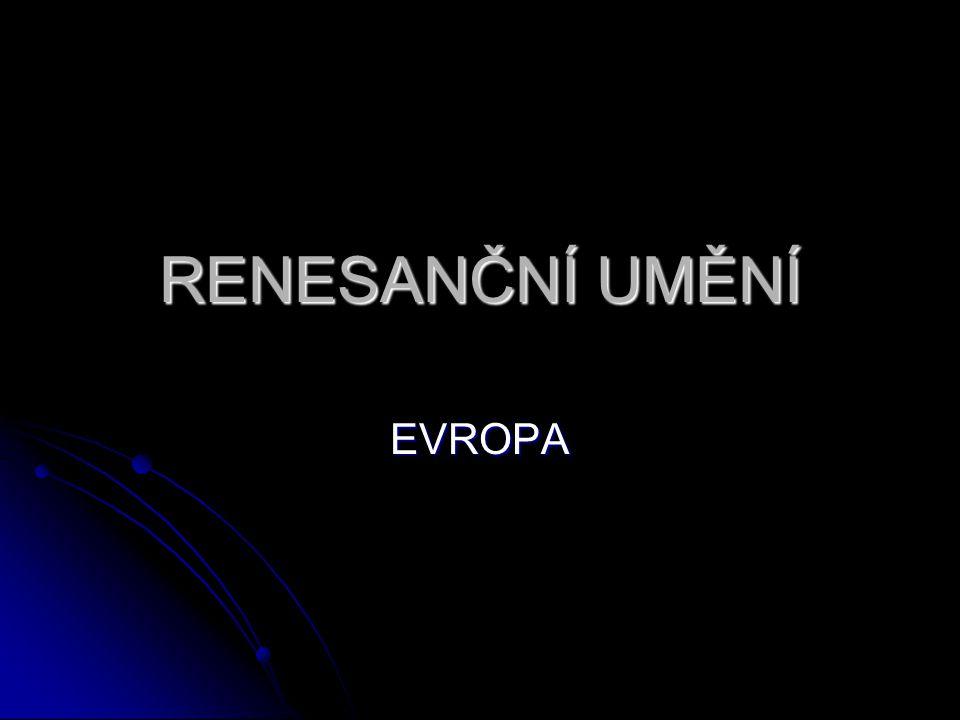 """Obecná charakteristika Etymologicky – """"rinascitá dell arte antica = návrat k antickému umění."""