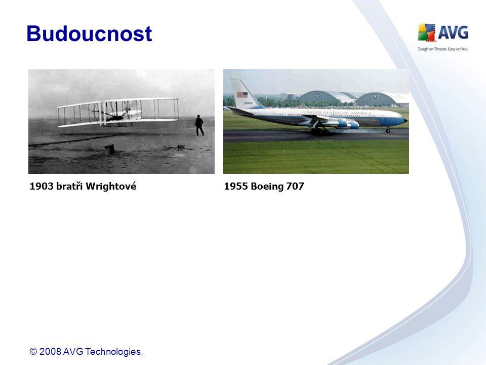© 2008 AVG Technologies. 1903 bratři Wrightové1955 Boeing 707 Budoucnost