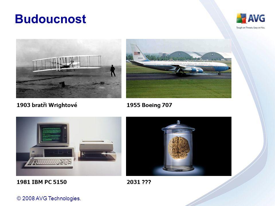 © 2008 AVG Technologies. 1903 bratři Wrightové1955 Boeing 707 1981 IBM PC 51502031 ??? Budoucnost