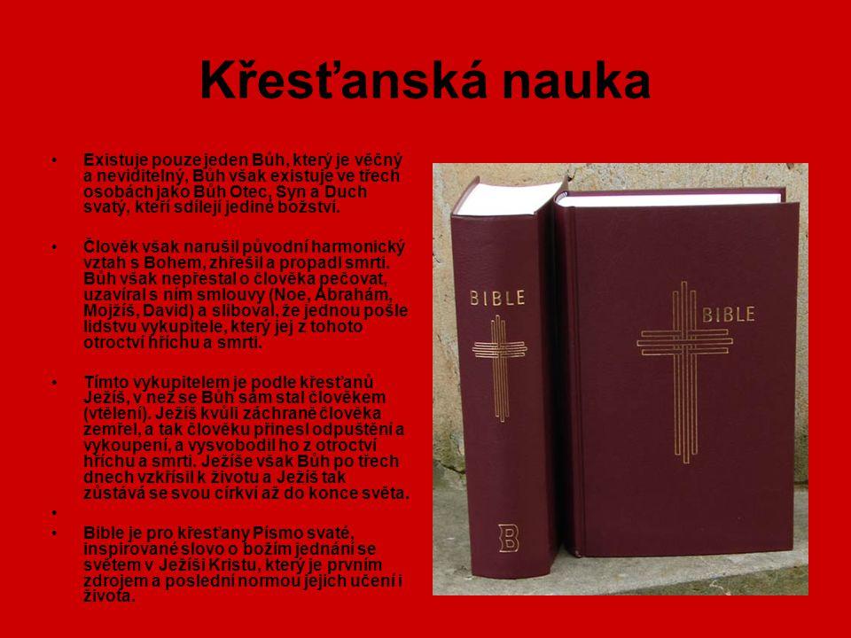 Církve (1) Většina křesťanů patří k jednomu ze tří hlavních směrů: západní katolictví, východní pravoslaví a protestantství, vzniklé z reformace v 16.