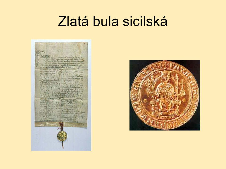 Zlatá bula sicilská (1212, 26.