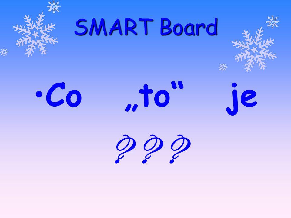 """SMART Board Co """"to je ? ? ? projekční plocha"""